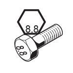 Metric Grade 8.8 Bolts